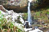 picture of falklands  - A view of a waterfall at Maspie Den in Falkland - JPG