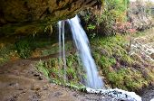 stock photo of falklands  - A view of the waterfall at Maspie Den near Falkland in Fife