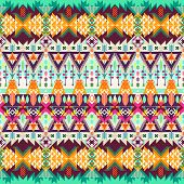 stock photo of tribal  - Tribal seamless background - JPG