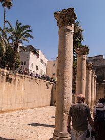 stock photo of cardo  - JERUSALEMISRAEL  - JPG
