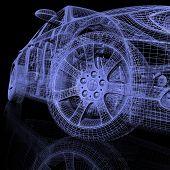 Постер, плакат: 3D модели автомобилей