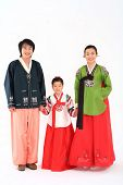 Family in Traditional Korean Dress