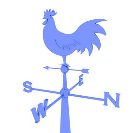 stock photo of wind vanes  - weathercock - JPG