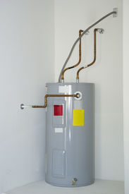 image of hot water  - Insulated Residential Smart Energy Electric Water Heater - JPG