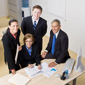 picture of portrait middle-aged man  - Business people working together - JPG
