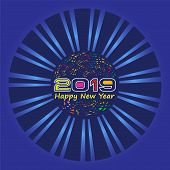 2019 On White Background, New Year 2019, 3d Illustration, Happy New Year 2019, Red 3d Numbers, New Y poster