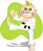 stock photo of karate kid  - cartoon karate expert - JPG