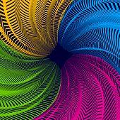 Vector Surreal Illusion Art For Design, Line Art 3d Dimensional Textured Inner Space, Hallucinogen D poster