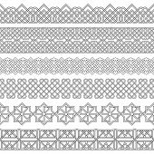 Vector Set Of Monochrome Dividers.borders For The Text, Invitation Cards, Various Printing Editions. poster