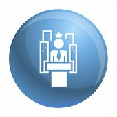 Political Election Speech Icon. Simple Illustration Of Political Election Speech Icon For Web Design poster