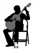Young Man Acoustic Guitar Player. Classical Music. poster