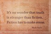 Fiction Sense Twain poster