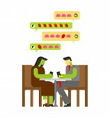 Love Zombie Date. Chat Zombies. Babbles And Heart And Brain. Lover Messages  poster