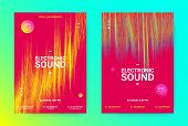 Amplitude Of Waves. Electronic Music Poster Concept. Dance Event Promotion. Wave Banner For Techno S poster