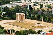 stock photo of akropolis  - Temple of the Olympian Zeus at Athens - JPG