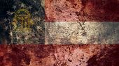 Very Grungy Vintage Georgia Flag, Grunge Background Texture poster