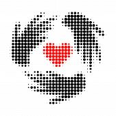 Lovely Craft Hands Halftone Dotted Icon. Halftone Pattern Contains Round Points. Vector Illustration poster