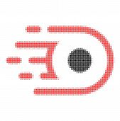 Speed Core Halftone Dotted Icon With Fast Speed Effect. Vector Illustration Of Speed Core Designed F poster