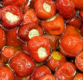 Red Peppers Stuffed With Tuna Sauce And Olive Oil A Typical Recipe Of The Mediterranean Countries poster