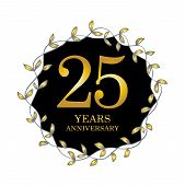 25 Anniversary Logo. Twenty Five Years Anniversary Celebration Logotype. poster