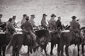SHARPSBURG, MARYLAND - SEPTEMBER 16: Confederate cavalry at the 150th anniversary of civil war battl