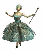 pic of fairyland  - a dancing ice princess with ball gown and magic wand - JPG