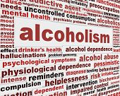 stock photo of alcohol abuse  - Alcoholism medical poster design - JPG