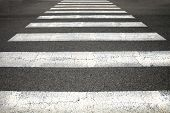 picture of zebra crossing  - Pedestrian crossing - JPG