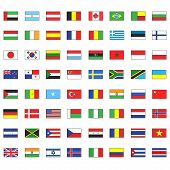 Collection Of Flags. Vector Design.