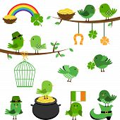 stock photo of st patty  - Vector Set of St Patrick - JPG