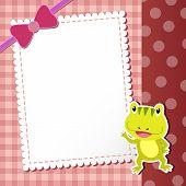 picture of baby frog  - cute cartoon frog - JPG