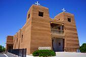 foto of sacred heart jesus  - Sacred Heart Catholic Church in Nambe Pueblo New Mexico near Santa Fe - JPG