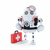 stock photo of cybernetics  - Medic Robot - JPG