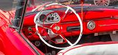 HAVANA-JUNE 21:Interior view of a well restored vintage convertible Ford on June 21, 2013 in Havana.