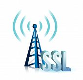 Ssl Tower Wifi Illustration Design