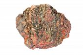image of mica  - Pink granite with lots of greenish mica  - JPG