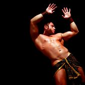 picture of loincloth  - Man with the bared torso in a loincloth - JPG