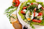 Light Spring Salad With Poached Egg