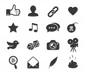 stock photo of poo  - Social media icons - JPG