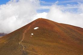 stock photo of scoria  - The summit of Mauna Kea is a cinder cone - JPG