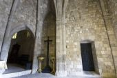 stock photo of filerimos  - Old historic Templar knights medieval church at Rhodes - JPG