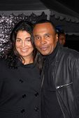 Sugar Ray Leonard and wife Bernadette Robi at
