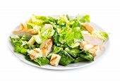 picture of caesar salad  - Caesar salad isolated on a white background - JPG