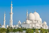 picture of emirates  - Sheikh Zayed Grand Mosque in Abu Dhabi the capital city of United Arab Emirates - JPG