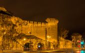 pic of avignon  - Defensive walls of Avignon a UNESCO heritage site in France - JPG