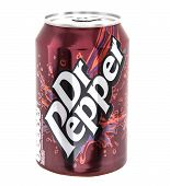 Can Of  Dr Pepper On A White Background