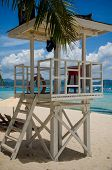 pic of boracay  - A lifeguard station situated in long stretch white sand of Boracay island - JPG