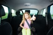 stock photo of seatbelt  - Child in car - JPG