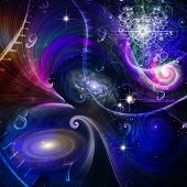 image of quantum physics  - Space Time and Quantum Physics Elements of this image furnished by NASA - JPG