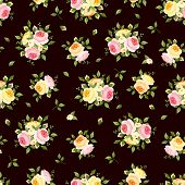 foto of english rose  - Vector vintage seamless pattern with pink - JPG